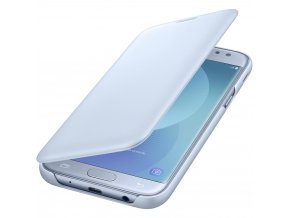 Samsung flip wallet pouzdro na Samsung Galaxy j5 2017 modré pootevřené