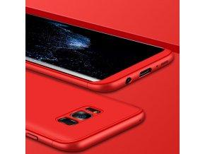 360 oboustranný kryt na Samsung Galaxy S8 Plus červený 1