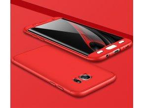 360 oboustranný kryt na Samsung Galaxy S7 Edge červený 2