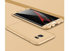360 oboustranný kryt na Samsung Galaxy S7 Edge zlatý 1