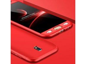 360 oboustranný kryt na Samsung Galaxy J7 2017 červený 2