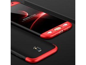 360 oboustranný kryt na Samsung Galaxy J7 2017 červenočerný 2