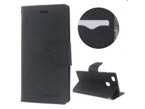 PU kožené pouzdro na Huawei P9 Lite černé 4