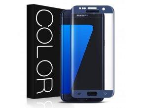 3d sklo na s7 edge modrá