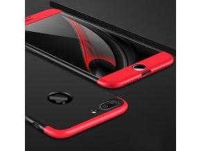 360 oboustranný kryt na iPhone 7 Plus, iPhone 8 Plus červenočerný 88