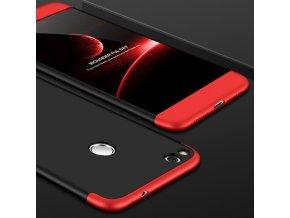 360 oboustranný kryt na Huawei P9 Lite 2017 červenočerný