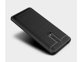 Ohebný carbon kryt na Nokia 8 - černý