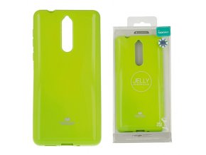 světle zelený perleťový gelový obal na Nokia 8
