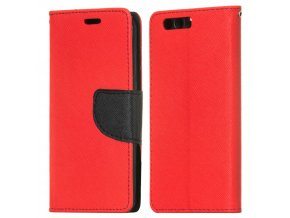 PU kožené pouzdro na Huawei Honor 9 červené