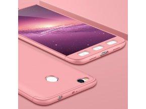 360 oboustranný kryt na Xiaomi Redmi 4X růžový