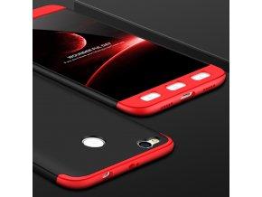 360 oboustranný kryt na Xiaomi Redmi 4X červenočerný