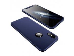 360 oboustranný kryt na iPhone X modrý