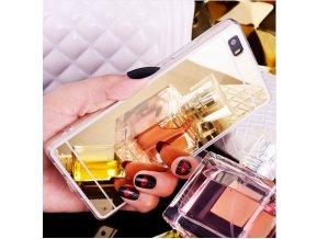 Zrcadlový silikonový kryt na Huawei P8 Lite - Zlatý  + Doprava zdarma