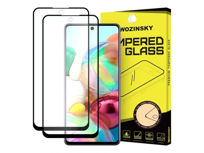 eng pl Wozinsky 2x Tempered Glass Full Glue Super Tough Screen Protector Full Coveraged with Frame Case Friendly for Samsung Galaxy A71 black 59659 1