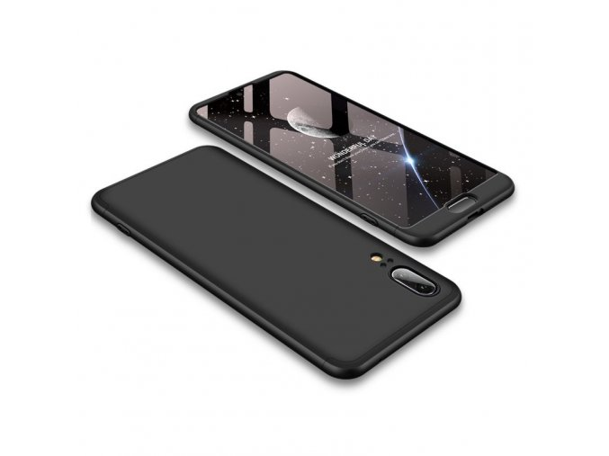 eng pl 360 Protection Front and Back Case Full Body Cover Huawei P20 black 39573 1