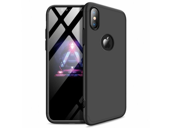 eng pl 360 Protection Front and Back Case Full Body Cover iPhone XR black logo hole 45687 1