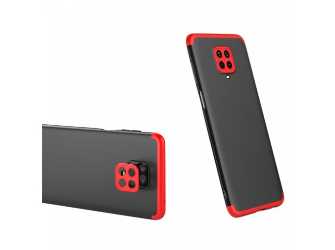 eng pl GKK 360 Protection Case Front and Back Case Full Body Cover Xiaomi Redmi Note 9 Pro Redmi Note 9S black red 61202 1