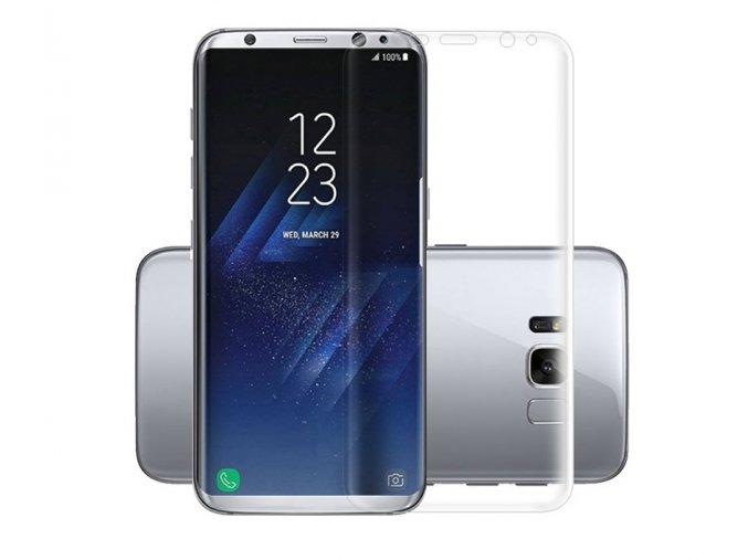 3D Tvrzené sklo na Samsung Galaxy S8 kompatibilní s krytem transparentní