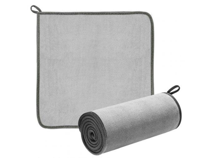 eng pl Baseus 2x microfiber towel to dry washing car 40 cm x 40 cm gray CRXCMJ 0G 59671 10