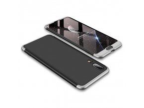 eng pl 360 Protection Front and Back Case Full Body Cover Huawei P20 black silver 39567 1