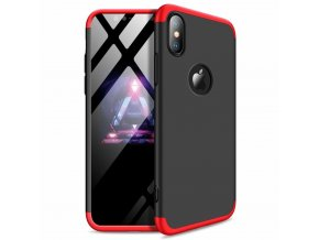 eng pl 360 Protection Front and Back Case Full Body Cover iPhone XR black red logo hole 45682 1