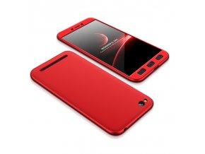 360 oboustranný kryt na Xiaomi Redmi 5A červený