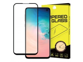 eng pl Wozinsky Tempered Glass Full Glue Super Tough Screen Protector Full Coveraged with Frame Case Friendly for Samsung Galaxy S10e black 50673 1