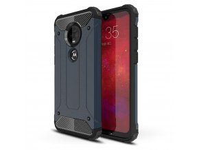 eng pl Hybrid Armor Case Tough Rugged Cover for Motorola Moto G7 Plus G7 blue 48696 1