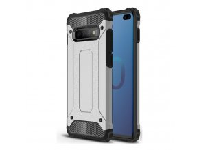 eng pl Hybrid Armor Case Tough Rugged Cover for Samsung Galaxy S10 Plus silver 46583 1
