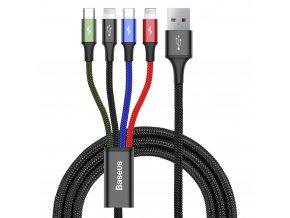 eng pl Baseus 2x Lightning USB Type C micro USB nylon braided cable 3 5A 1 2m black CA1T4 A01 51043 8 (1)