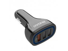 eng pl Dudao universal Car Charger 3x USB Quick Charge 3 0 QC3 0 2 4A 18W black R7S black 55636 1