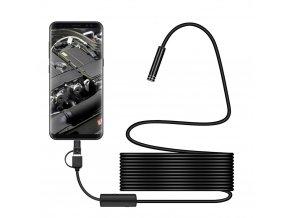eng pl 3 in 1 Waterproof USB Port Ear and Nose Endoscope 8mm Visual Lens Mini Camera Earpick Otoscope Endoscope Borescope 5m 55290 1