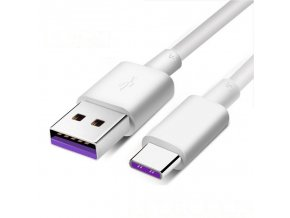 eng pl USB USB Type C charging data cable 5 A Huawei Super Charge 1 m white 62241 2