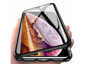 eng pl Wozinsky Full Magnetic Case Full Body Front and Back Cover tempered glass for iPhone XS Max black transparent 48518 1