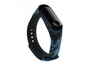 eng pl Replacment band strap for Xiaomi Mi Band 4 Mi Band 3 Camouflage blue 54223 1