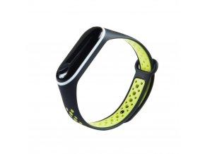eng pl Replacment band strap for Xiaomi Mi Band 4 Mi Band 3 Dots black green 54234 3