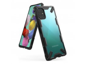 eng pl Ringke Fusion X durable PC Case with TPU Bumper for Samsung Galaxy A51 black FUSG0037 56924 1