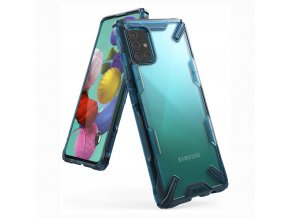eng pl Ringke Fusion X durable PC Case with TPU Bumper for Samsung Galaxy A51 blue FUSG0038 56925 1