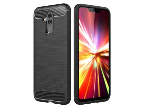 eng pl Carbon Case Flexible Cover TPU Case for Huawei Mate 20 Lite black 43242 1