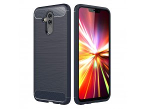eng pl Carbon Case Flexible Cover TPU Case for Huawei Mate 20 Lite blue 43241 1
