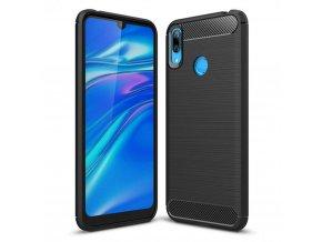eng pl Carbon Case Flexible Cover TPU Case for Huawei Y7 2019 Y7 Prime 2019 black 48406 1