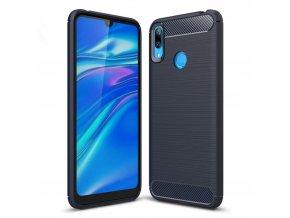 eng pl Carbon Case Flexible Cover TPU Case for Huawei Y7 2019 Y7 Prime 2019 blue 48407 1