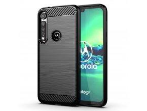 eng pl Carbon Case Flexible Cover TPU Case for Motorola G8 Plus black 56801 1