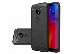 eng pl Carbon Case Flexible Cover TPU Case for Motorola Moto G7 Power black 48416 1 (1)