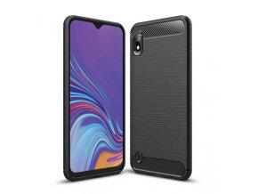 eng pl Carbon Case Flexible Cover TPU Case for Samsung Galaxy A10 black 51352 1