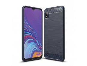 eng pl Carbon Case Flexible Cover TPU Case for Samsung Galaxy A10 blue 51353 1