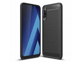 eng pl Carbon Case Flexible Cover TPU Case for Samsung Galaxy A50 black 49021 1