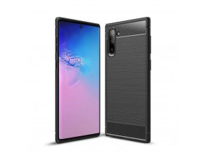 eng pl Carbon Case Flexible Cover TPU Case for Samsung Note 10 black 51822 1