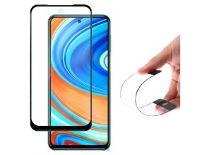 eng pl Wozinsky Full Cover Flexi Nano Glass Hybrid Screen Protector with frame for Xiaomi Redmi Note 9 Pro Redmi Note 9S black 61052 1