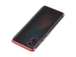 eng pl Clear Color Case Gel TPU Electroplating frame Cover for Samsung Galaxy A51 red 59835 14